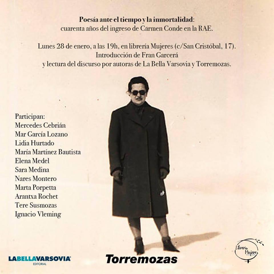 Homenaje a Carmen Conde en la Librería Mujeres de Madrid