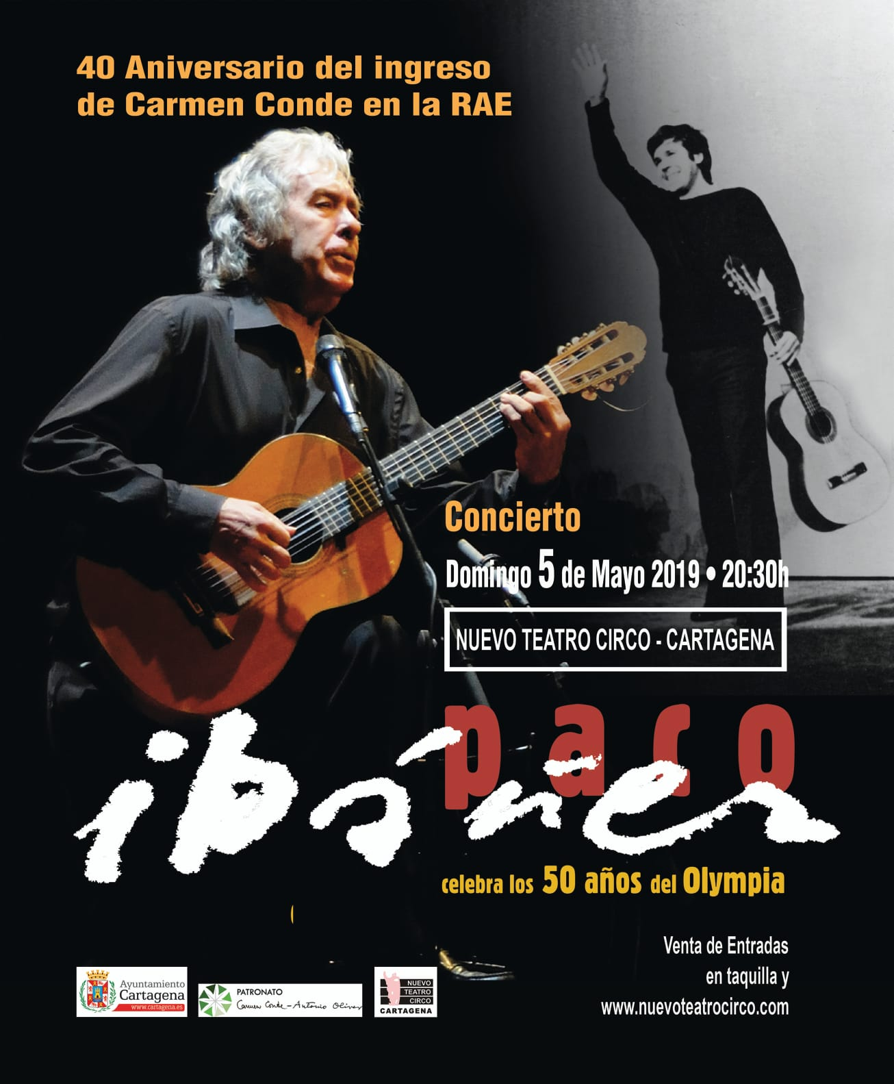 Concierto de Paco Ibáñez en homenaje a Carmen Conde