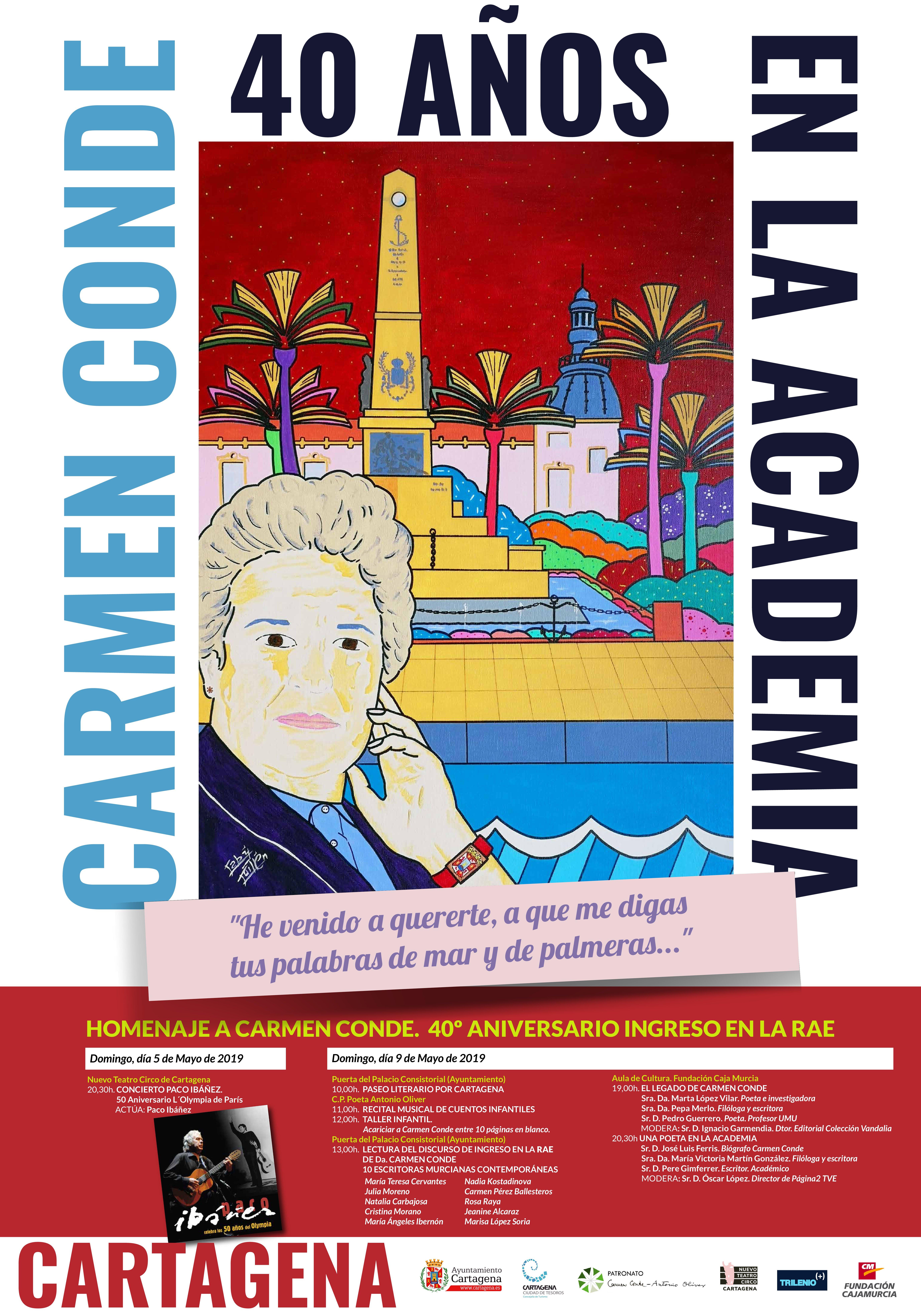 Cartel Carmen Conde, 40 años en la Academia