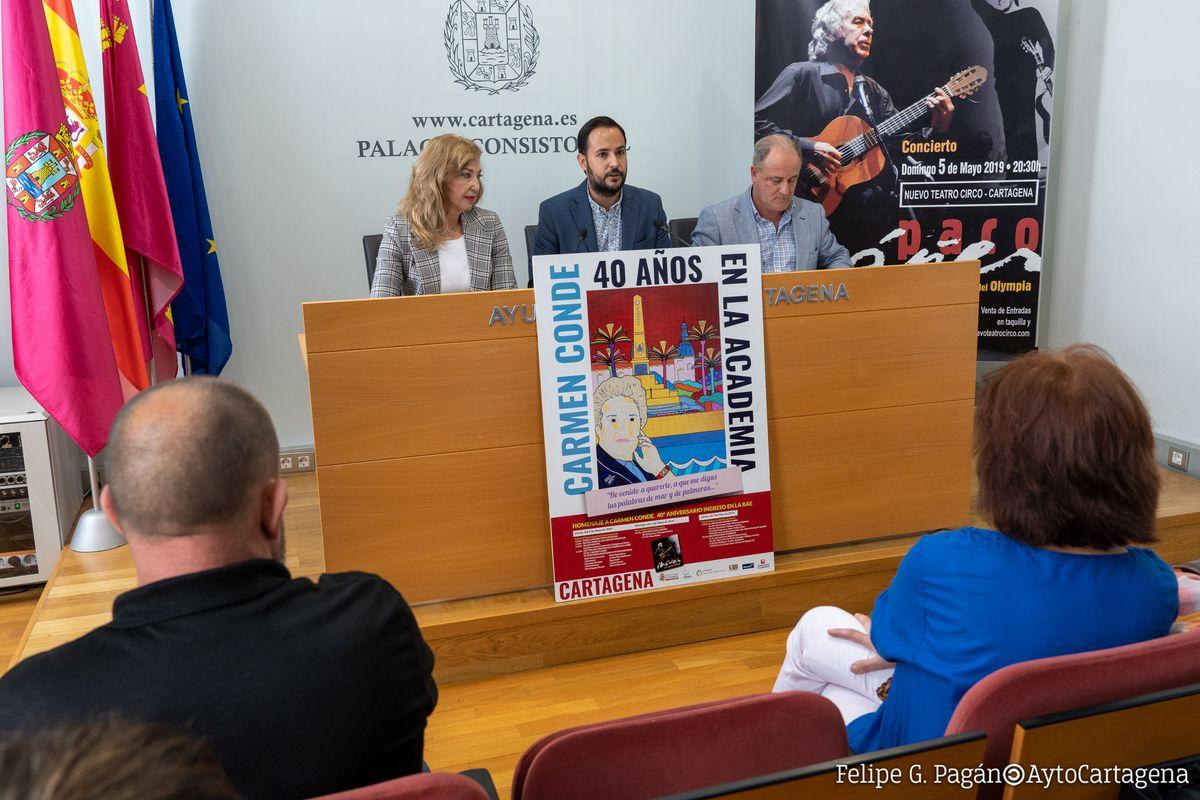 Rueda de prensa anunciando Homenaje a Carmen Conde